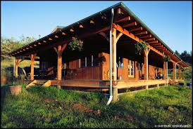 Ranch House With Wrap Around Porch by Timber Porches Swiftsure Timberworks