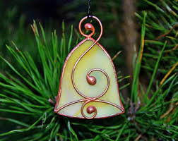 Glass Bell Christmas Ornaments - stained glass bell etsy