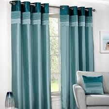 curtains interesting teal curtains for home teal and silver