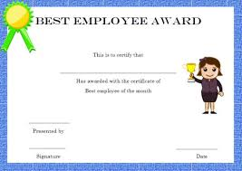 elegant and funny employee of the month certificate templates