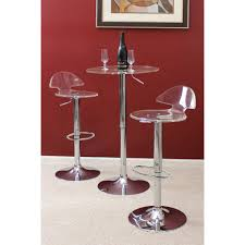 modern clear u0026 chrome clair bar stool zuri furniture