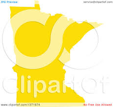 State Of Mn Map by Clipart Of A Yellow Silhouetted Map Shape Of The State Of