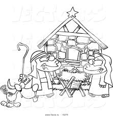 nativity black and white clipart china cps
