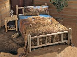 Western Bed Frames Rustic Western Bedroom Furniture Varnished Log Wood King Size Bed