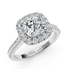 cushion diamond ring summer cushion cut diamond halo engagement ring