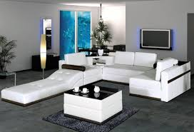 Modern Furniture For Living Room Chairs Furniture Glamorous White Leather U Shaped With