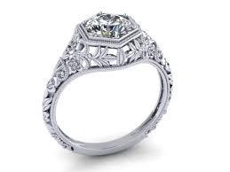 nouveau engagement rings custom made nouveau engagement ring 14k white gold