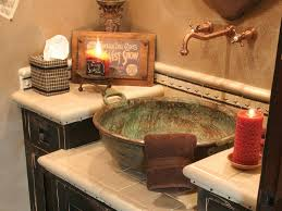 Romantic Bathroom Decorating Ideas Rustic Bathroom Double Vanities Mosaic Tile Shower Awesome Indoor