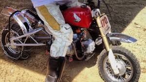 hill climb racing motocross bike custom vintage mini bike hill climber kills it at the halloween