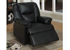 Faux Leather Recliner Black Faux Leather Recliner