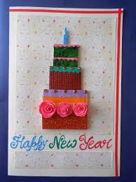 happy new year card buy happy new year cake handmade greeting card doodlefy