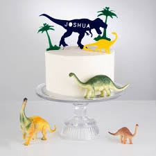 personalised dinosaur cake topper by twenty seven
