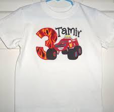 blaze monster truck birthday shirt birthday