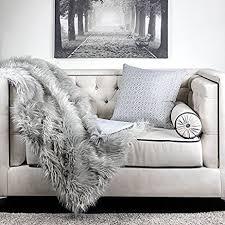 fur throws for sofas amazon com homey cozy crow heavy long fur throw blanket fluffy