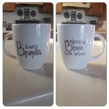 Best Ceramic Mugs Best Friend Sharpie Mug Diy Pinterest Craft Gift And