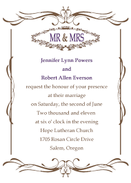 wedding invitation frame classic wedding invitations traditional style