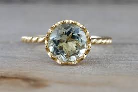 green amethyst engagement ring 14k yellow gold 8mm green amethyst engagement ring crown