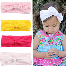 cloth headbands 2016 new hot fashion baby girl headbands rabbit ears bow hair