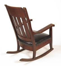 Marble Chair Co Sold Early 20th C Mission Oak Rocker B L Marble Chair Co