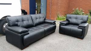Scs Leather Sofas Brand New Black Leather Endurance Infinity 3 Seater Sofa Inside