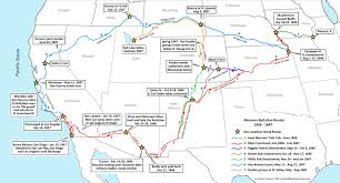Map Of Page Arizona by Mormon Battalion History