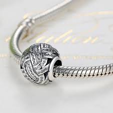 sterling silver european bead bracelet images Charm fit pandora bracelet love knot silver beads with crystal jpg