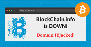 bitcoin info blockchain info domain hijacked site goes down 8 million bitcoin