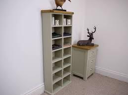Aspen Bookcase Grey Painted Oak Tall Double Bookcase Oak City