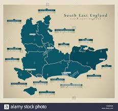 map of east uk modern map south east uk stock vector illustration