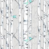 white birch fabric wallpaper u0026 gift wrap spoonflower