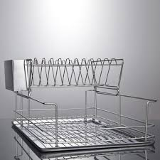 kitchen stainless steel kitchen furniture 2 tier dish rack with