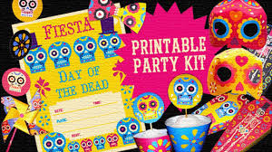 day of the dead home decor day of the dead dia de los muertos printable party kit