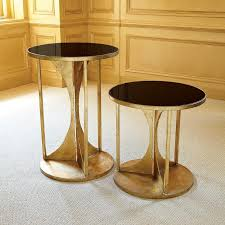 black and gold side table views hourglass table antique gold i zinc door