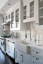 Glass Door Cabinets Kitchen Kitchen Kitchens Blue Ceilings And Glass Doors
