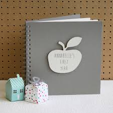 baby 1st year book personalised my year baby book by posh totty designs