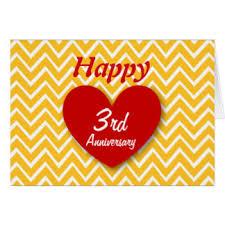 3rd wedding anniversary 3rd wedding anniversary greeting cards zazzle