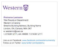 email signature communications western university