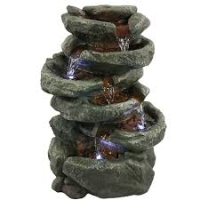 indoor fountain with light home decor indoor fountains 6 tier stone falls tabletop fountain w