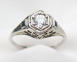 deco engagement ring circa 1920 diamond filigree ring deco white gold engagement ring