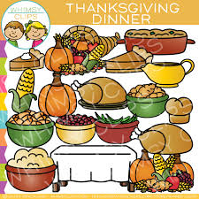 thanksgiving dinner clip images illustrations whimsy