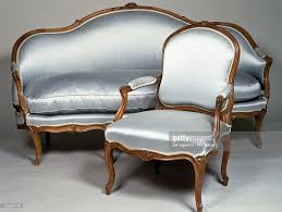 Wooden Carving Furniture Sofa Louis Xv Style Carved Natural Wood Frame Armchair And Sofa France