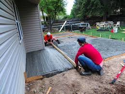 How To Pour Concrete Patio Pouring A Concrete Patio In Sections Home Design Ideas