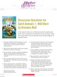 discussion questions for spirit animals wild born by brandon mull