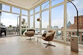 Living Room Furniture New York City Apartments Arco Floor L And Swan Chairs In The Living Room Of