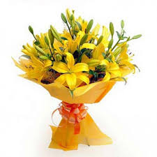flower bouquet pictures 10 yellow lillies flower bouquet myflowergift