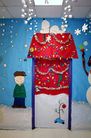christmas door decorating ideas classroom door charlie brown