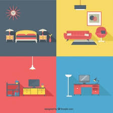 Home Interior Vector by Furniture Icons In Top View Vector Free Download