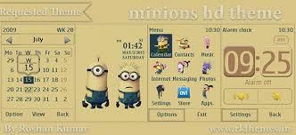 themes for nokia c2 touch and type minions hd theme for asha 202 203 x3 02 300 303 c2 02 c2 03 c3 01