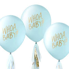 baby shower balloons inklings paperie blue designer baby shower balloons 12 count