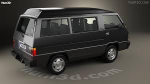 mitsubishi delica 360 view of mitsubishi delica star wagon 4wd glx 1982 3d model